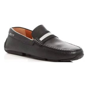 Bally Pearce Driver Black Leather Men's Loafer